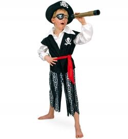 Pirat Seeräuber Captain Oberteil, Hose und Gürtel