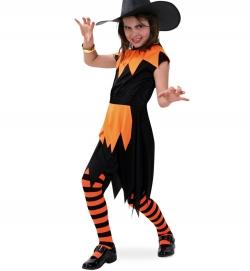 Hexenkleid schwarz orange