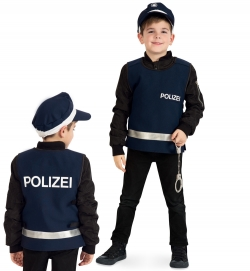 Polizei Weste blau Überzieher mit Klettverschluss