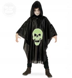 Skull, Überwurf nachtleuchtend Kinder Halloween-Kostüm