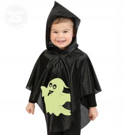 Kleiner Geist, Überwurf nachtleuchtend Halloween-Kinder Kostüm Größe 104-116