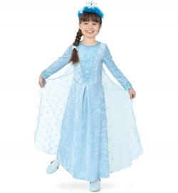 Eisprinzessin, Kleid mit Schleppe (abnehmbar)