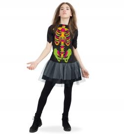 Skelett Kleid bunt nachtleuchtend