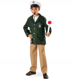 Kinder Komplettkostüm Polizist grün