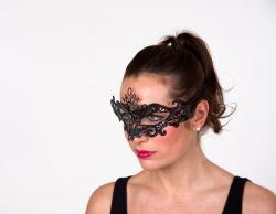 Schmuckmaske schwarz beglittert