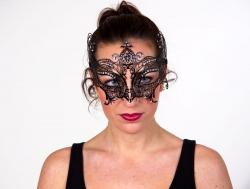 Schmuckmaske Augenmaske schwarz