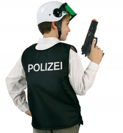 POLIZEI Einsatzweste, schwarz (seitl. Klettverschluss)