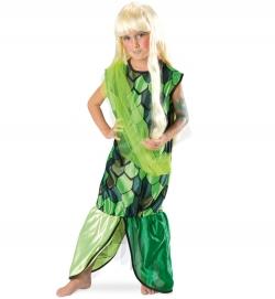 Nixe Meerjungfrau Kleid mit Schärpe