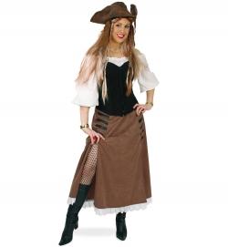 Piratin Rock und Corsage, 2-tlg.