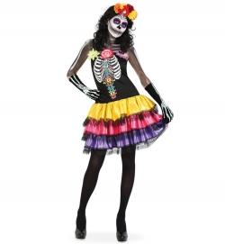 Skelett Kleid mit Rüschenrock