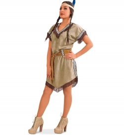 Indianerin Squaw Kleid Heller Stern