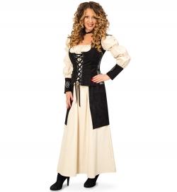 Mittelalter Kostüm, 2-tlg.Hofdame