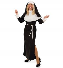 Nonne, Kleid mit Haube + Kordel