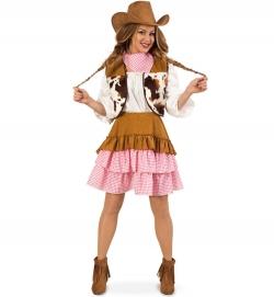 Cowgirl, Weste, Rock + Tuch