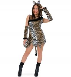 Wildkatze Leopard Kleid Tierkostüm
