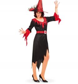Hexe Red Witch Hexenkleid mit Gürtel