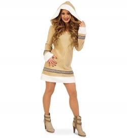 Eskimofrau, Kleid mit Kapuze