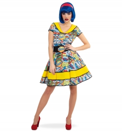 Kleid Wow Comic Pop Art 50er Jahre