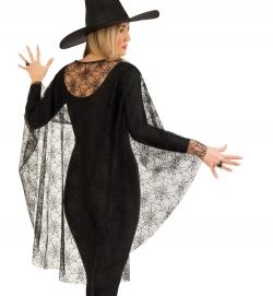 Spinnencape Umhang schwarz Halloween Damenkostüm Größe Uni