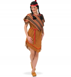 Indianerin Hakuni Indianerkleid mit Kordel