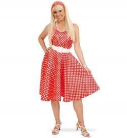 Rockabilly Kleid mit Gürtel 50er Jahre