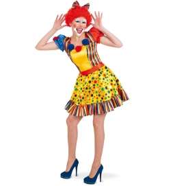 Clown Happy Clownkleid mit Gürtel