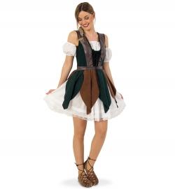 Waldelfe Mittelalterkleid Hazel mit Gürtelrock