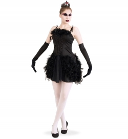 Schwarzer Schwan Tanz Ballettkleid