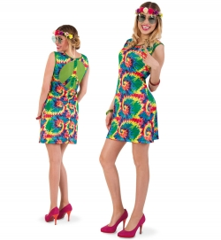 Hippie Kleid 60er Jahre Party Flower Power