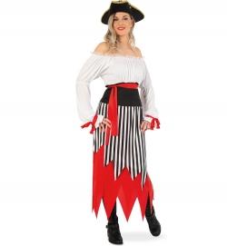 Piratin Seeräuber Freibeuterin Piratenkleid mit Gürtel
