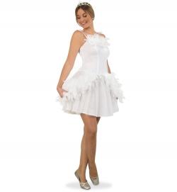 Weißer Schwan Kleid Tierkostüm