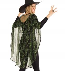 Spinnencape Umhang Halloween Damenkostüm