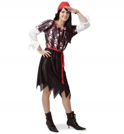 Piratin Elisa Piratenkleid mit Gürtel Seeräuberin