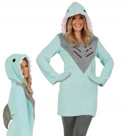 Hai Sharky Tierkostüm Kleid mit Kapuze und Handwärmer