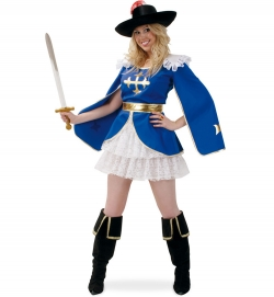Faschingskostüm historische Musketier Dame