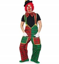 Clown Hose mit Hosenträgern kariert Mc Check
