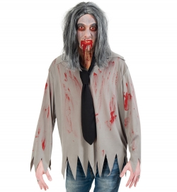 Hemd Zombie, 1-tlg. mit Krawatte