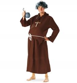 Mönch Ordensbruder Kutte mit Kapuze und Kordel