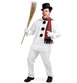 Faschingskostüm Schneemann mit Schal