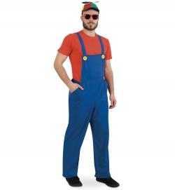 Latzhose blau, Uni-Kostüm