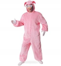 Tierkostüm Schwein Overall mit Kapuze