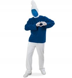 Blauer Zwerg, Oberteil mit Kapuze + Hose