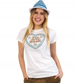 Damen T-Shirt Oktoberfest - I hob ebn koa Dirndl