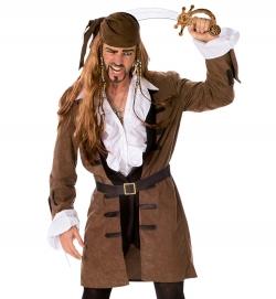 Piratenmantel mit Gürtel Fasching Verkleidung