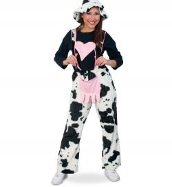 Kuh Trägerhose mit Herz Tierkostüm