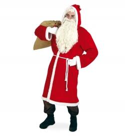 Nikolaus Mantel Plüsch Weihnachtsmann Santa Clause