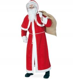 Weihnachtsmann Mantel Nikolausmantel mit Pelerine, Kapuze + Kordel