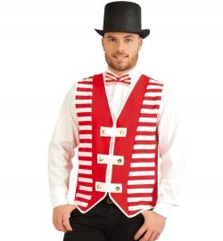 Weste Köln, rot/weiß Herren Kostüm