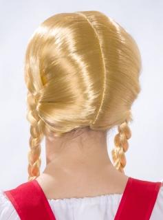 Blonde Zopfperücke
