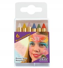 Schminkstifte Pastellfarbe 6 Stk.